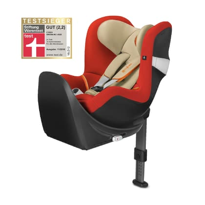 Cybex Kindersitz Sirona M2 i-Size inkl. Base M Autumn Gold - burnt red 2018 2018 - Großbild