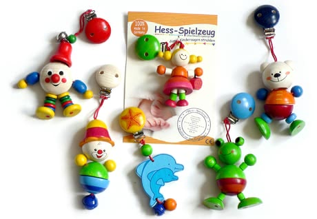 Hess wooden clip figure - The colourful wooden clip figures offer a great variety and can be taken everywhere and at all times.