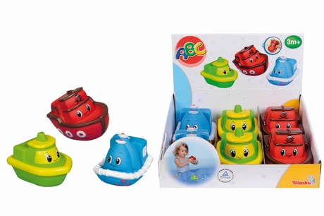 Bathing boats - The little boats are made of soft material and perfect for little water rats.