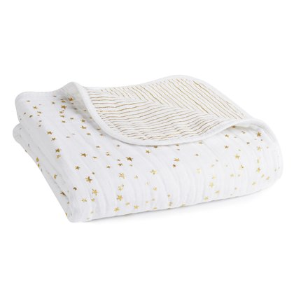 aden+anais Classic Dream Blanket Metallic Kuscheldecke - Play, sleep and cuddle is simply gorgeous with the aden + anais classic dream blanket cosy blanket.