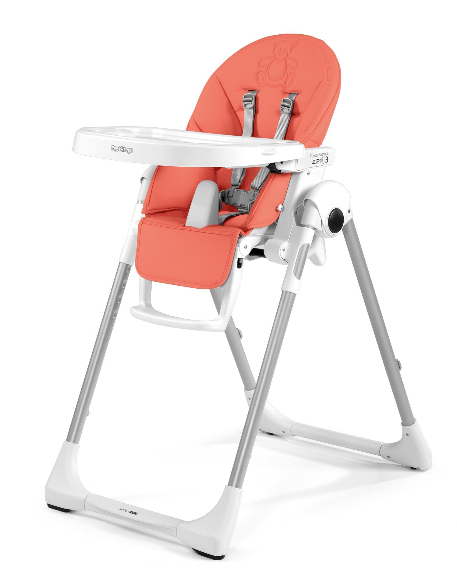 Peg perego chaise haute prima pappa zero3 2018 bear coral - Chaise haute peg perego prima pappa zero 3 ...