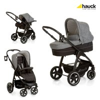 Hauck Soul Plus stroller Trio set - You can plus the stroller Hauck soul use already for your newborn baby, if you combine the CARRYCOT with the chassis.