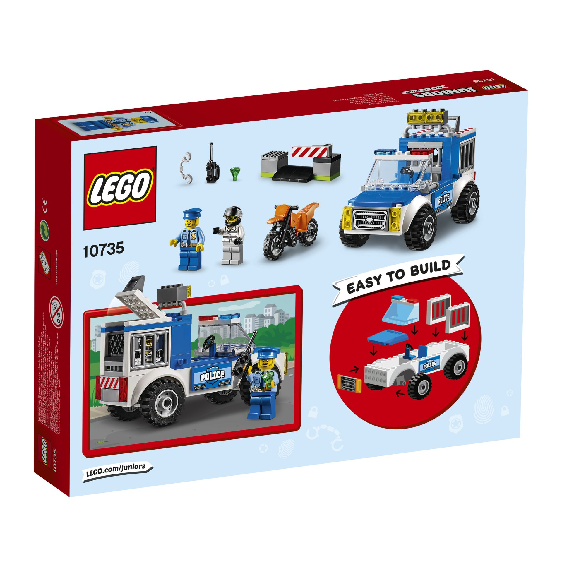Policía en caza de delincuentes LEGO Juniors - Comprar en kidsroom ...