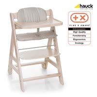 Hauck high chair Beta+ Plus - With the Hauck beta + wooden highchair there is a contribution to environmental protection.
