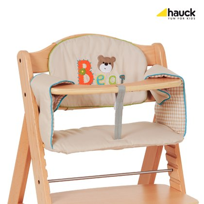 Hauck high chair inlay Comfort - This two-piece comfortable cushion you can in an instant with Velcro to the highchair mount and remove easily for washing.
