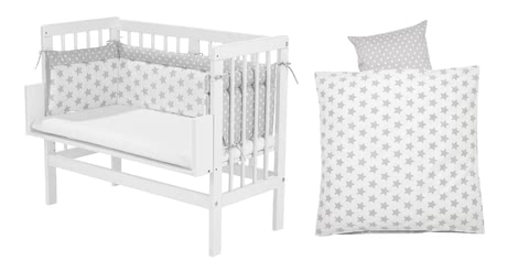 Alvi crib nature set with mattress, nest and span bedsheet 2017 - большое изображение