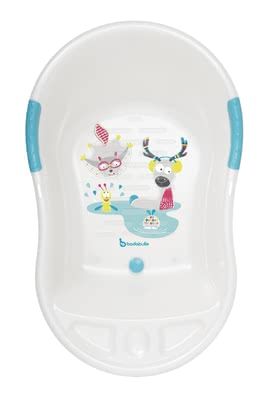 Badabulle baby bathtub white mountain animals - большое изображение
