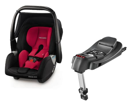 Recaro Babyschale Privia Evo inkl. SmartClick Basis Racing Red 2018 - Großbild