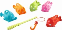 "HABA Bath Toy Angler Set ""Squirter Fish"" - The entertaining angler set by HABA proves the ultimate fun companion in the bathtub or in the paddling pool."
