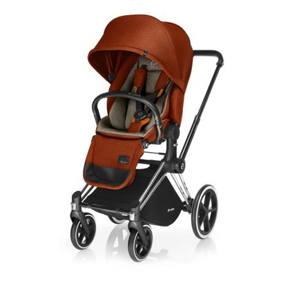 Cybex Platinum Kinderwagen PRIAM inkl. Lux Seat Autumn Gold_burnt red 2018 - Großbild
