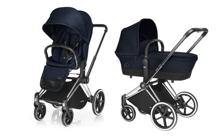 Cybex Platinum Stroller PRIAM incl. Lux Seat and Carrycot Midnight Blue_navy blue 2018 - большое изображение