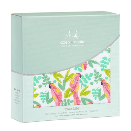 aden+anais Classic Swaddle Wickeltücher Single Pack birds of paradise 2018 - Großbild