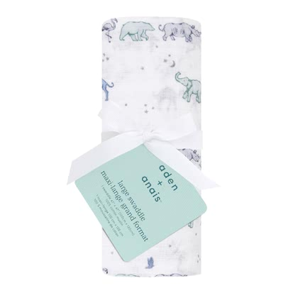 aden+anais Classic Swaddle single pack rising star - follow the stars - Image de grande taille