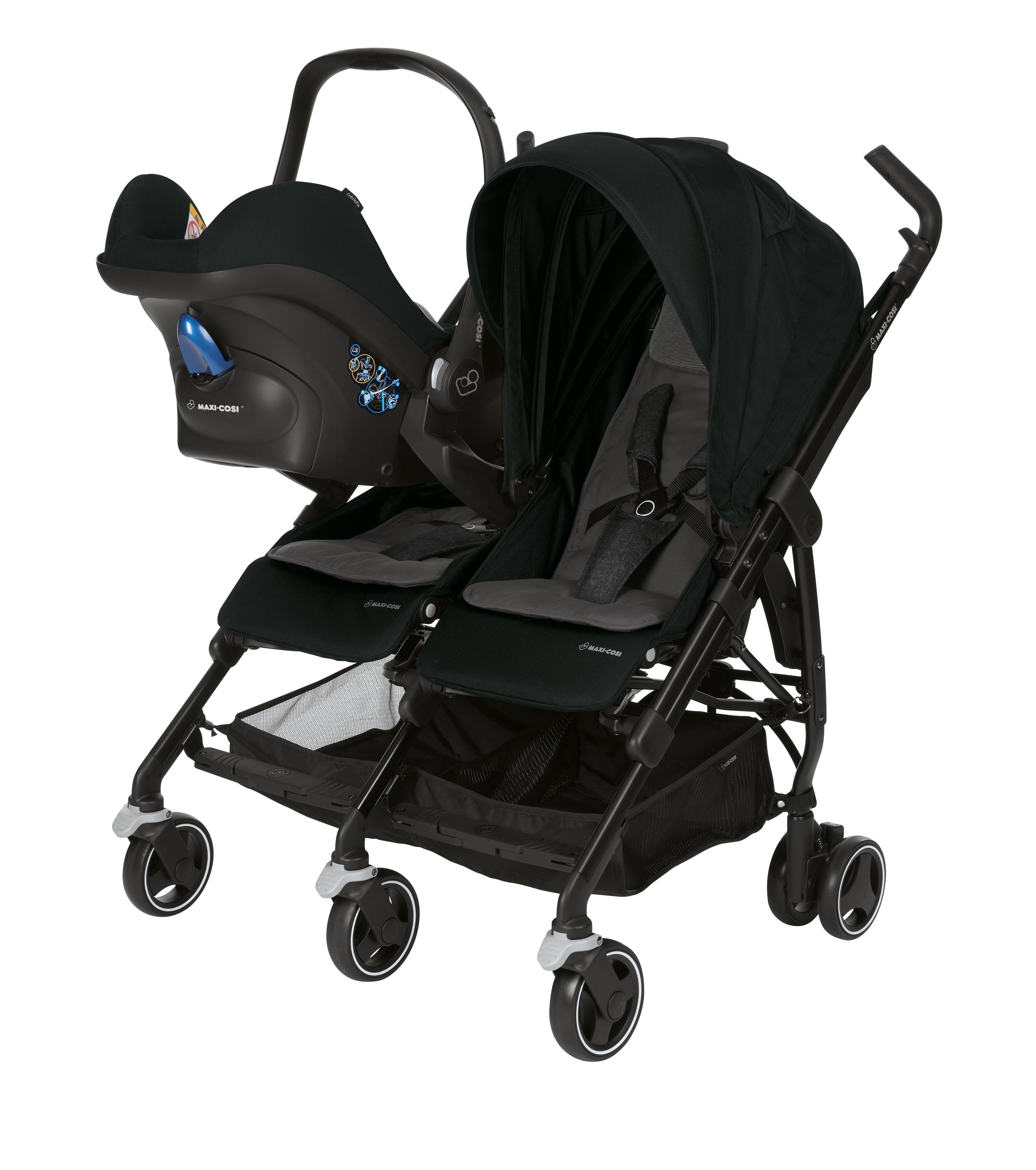 Zwillingskinderwagen maxi cosi  Maxi Cosi Buggy Dana For 2 2018 Nomad Black online kaufen bei ...
