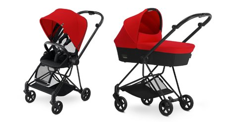 Cybex Platinum Buggy MIOS Complete Set including Colour Pack and Carrycot Autumn Gold_burnt red 2018 - большое изображение
