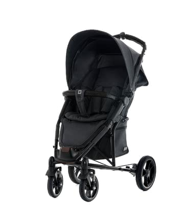 Moon Buggy Flac – Coffee -  * Subtle elegance! Light denim and soft black faux-leather handles make the Flac - Coffee stand out as one of the trendiest buggies of its range.