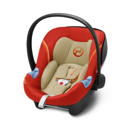 Cybex Babyschale Aton M i-Size Autumn Gold - burnt red 2018 - Großbild