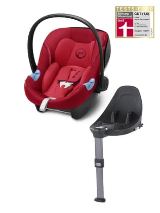 Cybex Infant Car Seat Aton M i-Size including Base M Rebel Red - red 2018 - большое изображение