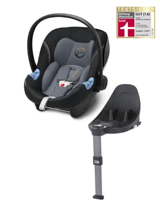Cybex Infant Car Seat Aton M i-Size including Base M Pepper Black - dark grey 2018 - большое изображение