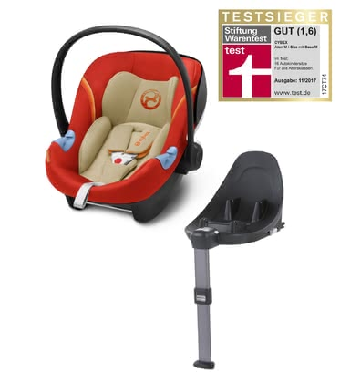 Cybex Infant Car Seat Aton M i-Size including Base M Autumn Gold - burnt red 2018 - большое изображение