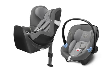 Cybex M-Line Child Car Seat Modular System i-Size Manhattan Grey - mid grey 2018 - большое изображение