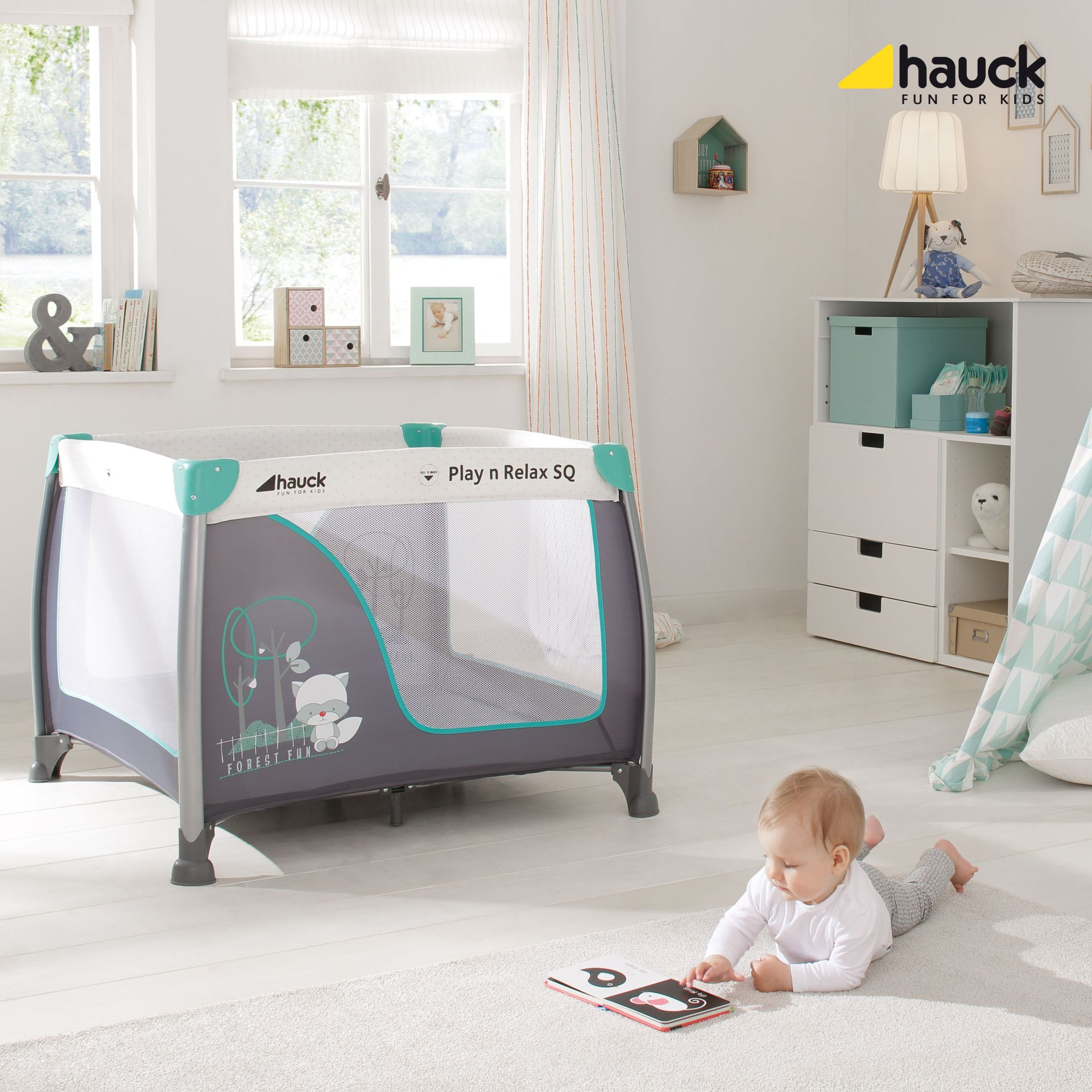 Hauck allrounder play and relax sq 2018 online kaufen bei for Kinderzimmer play 01