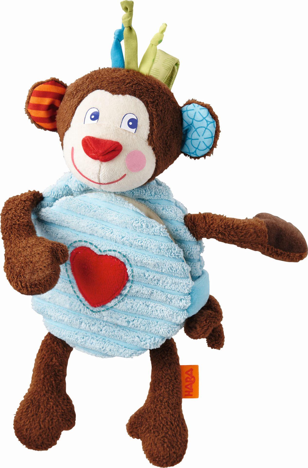haba stoffbuch affe lino online kaufen bei kidsroom spielzeug babyspielzeug. Black Bedroom Furniture Sets. Home Design Ideas