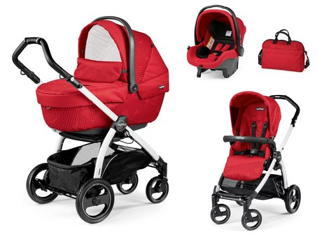 Peg-Perego Kinderwagenset Book S Modular Set XL Geo Red 2018 - Großbild