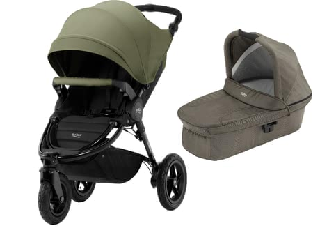 Britax Kinderwagen B-Motion 3 Plus inkl. Canopy Pack + Hard Carrycot Olive Green 2019 - Großbild