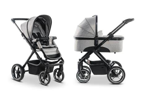 Moon Multi-Functional Stroller including Aluminium Carrycot stone_panama 2019 - Image de grande taille
