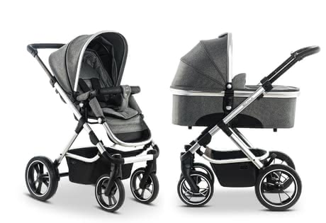 Moon Multi-Functional Stroller including Aluminium Carrycot anthrazit_panama 2019 - Image de grande taille