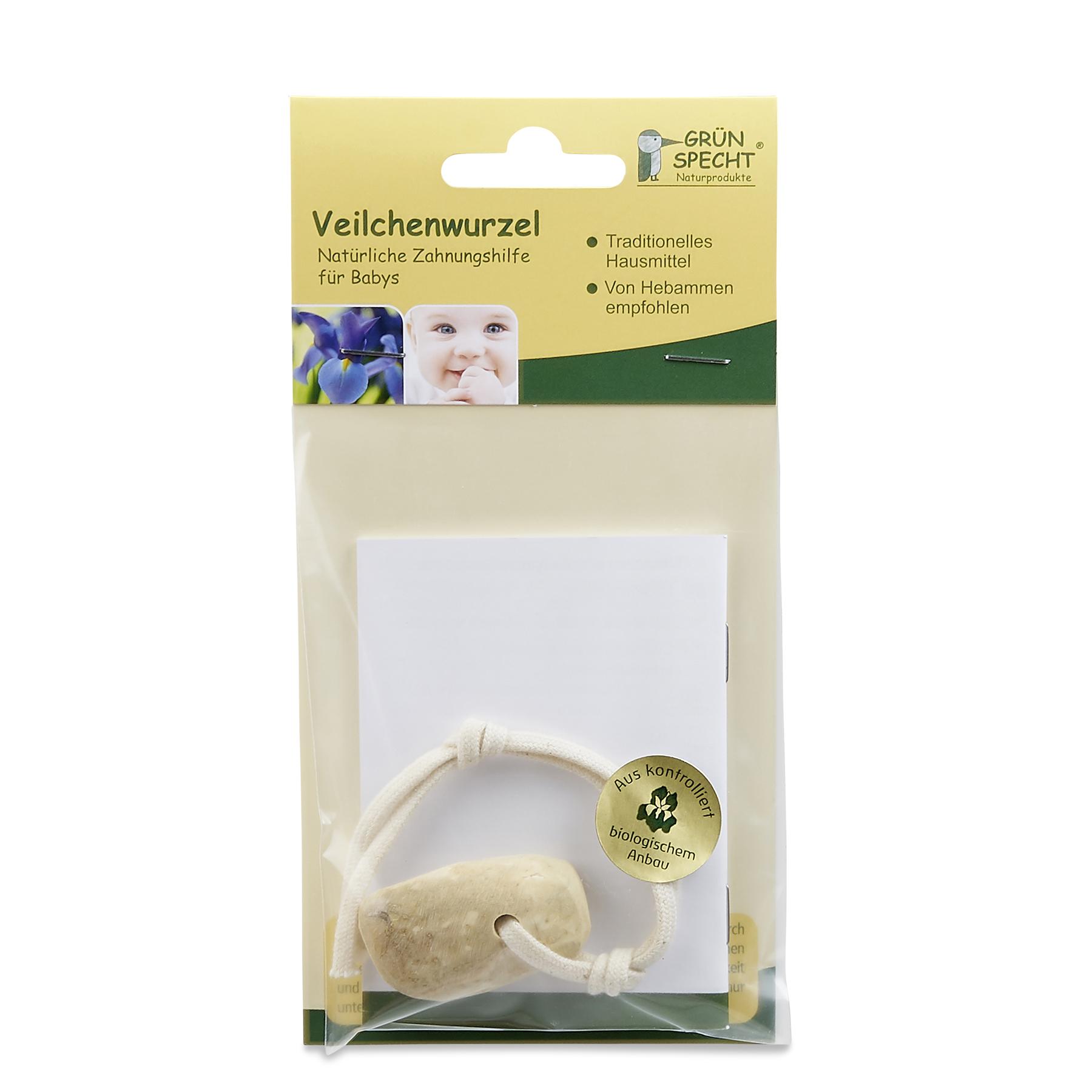 Gr/ünspecht 532-V1 Bio-Veilchenwurzel an Kordel