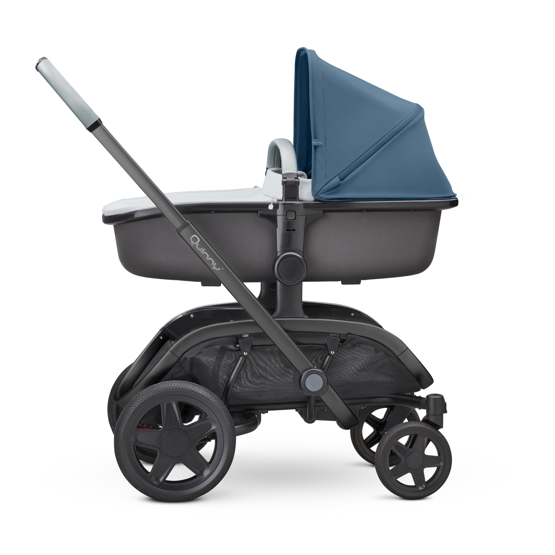 quinny kinderwagen hubb 2019 blue coral on grey online. Black Bedroom Furniture Sets. Home Design Ideas