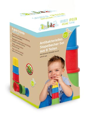 Anbac Stackable-Cup Set -  * The 8-piece stackable-cup set by anbac provides your little explorer with numerous possibilities to play.