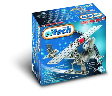 eitech Metal Building Kit Aircraft/ Helicopter -  * The Metal Building Kit Aircraft/ Helicopter is perfect for constructing two different models – either an aircraft or a helicopter. This kit is particularly suitable for beginners since the construction is not too complex but still compact and robust.