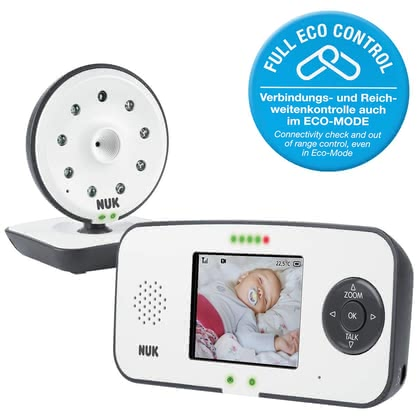 NUK Eco Control Video Display 550VD  - * Das digitale Babyphone NUK Eco Control Video Display 550VD gibt frischgebackenen Eltern die nötige Sicherheit, dass ihr Baby friedlich schlummert, auch wenn sie nicht im selben Raum sind.
