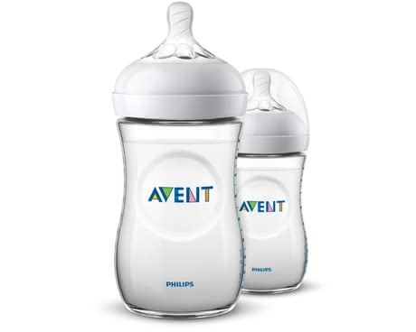 Philips AVENT飛利浦新安怡奶瓶Naturnah 2.0兩件裝 -  * Avent Natural 2.0 baby bottles – now even more natural. The trendy bottle features an ergonomic shape which makes it super easy for you to hold it.
