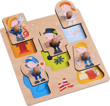 "Haba Clutching Puzzle ""Professions"" -  * Haba's clutching puzzle ""Professions"" stands out as a great introduction to the magnificent world of puzzles."