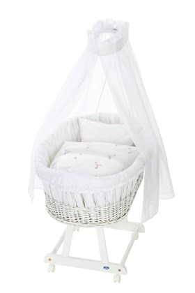 Alvi Bassinet Birthe with XL lying surface, 6 Pieces – Flamingo - El Birthe stubenwagen by Alvi cuenta con una zona muy amplia.