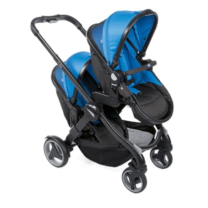 Chicco Double Stroller Fully Twin Power Blue 2020 - Image de grande taille