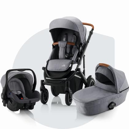 Britax Römer Kinderwagen SMILE III – Comfort Bundle Frost Grey, brown 2020 - Großbild