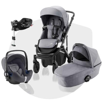 Britax Römer Kinderwagen SMILE III – Comfort Plus Bundle Frost Grey, Black Handle 2021 - Image de grande taille