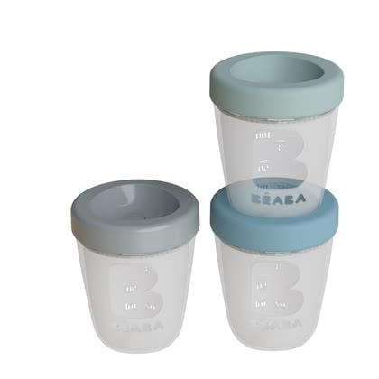 Béaba Silicone Containers, Pack of 3 Jungle - Image de grande taille