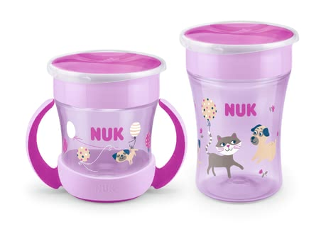 NUK EVOLUTION Magic Cup Set Duo Girl - Imagen grande