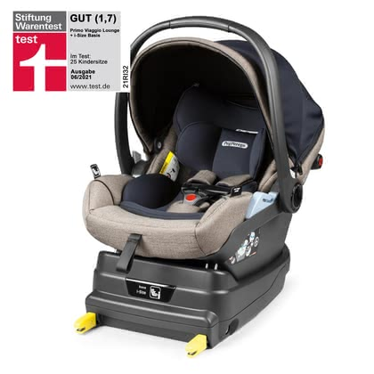 Peg Perego Infant Car Seat Primo Viaggio Lounge including i-Size Base - Dobla hacia atrás y viaja relajado y ergonómico – el be-all y end-all para crecer saludable.