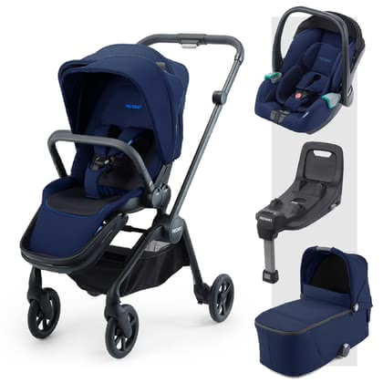 Recaro Sadena 3-in-1 Travel-System inkl. ISOFIX-Basis Select Pacific Blue 2020 - Großbild