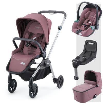 Recaro Sadena 3-in-1 Travel-System inkl. ISOFIX-Basis Prime Pale Rose 2020 - Großbild