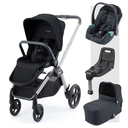 Recaro Celona 3-in-1 Travel-System inkl. ISOFIX-Basis Select Night Black 2021 - Großbild