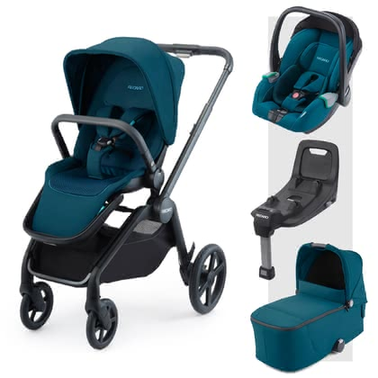 Recaro Celona 3-in-1 Travel-System inkl. ISOFIX-Basis Select Teal Green 2021 - Großbild