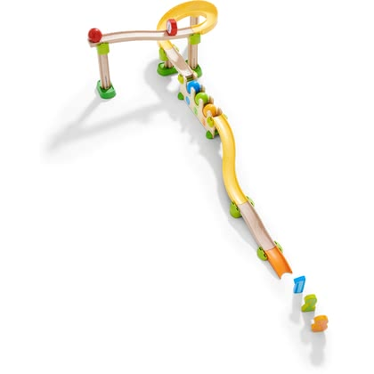 HABA Kullerbü – Ball Track Number and Colour Rally -  * With the lovingly designed Kullerbü ball track Number and Colour Rally by HABA, little explorers will enjoy a wide range of games and learning.